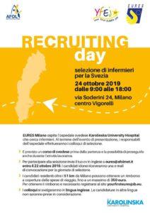 24.10.19 EuresMilano Recruiting Day infermieri Svezia